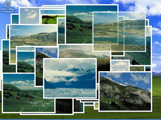 Photo Collage Screensaver Screen shot